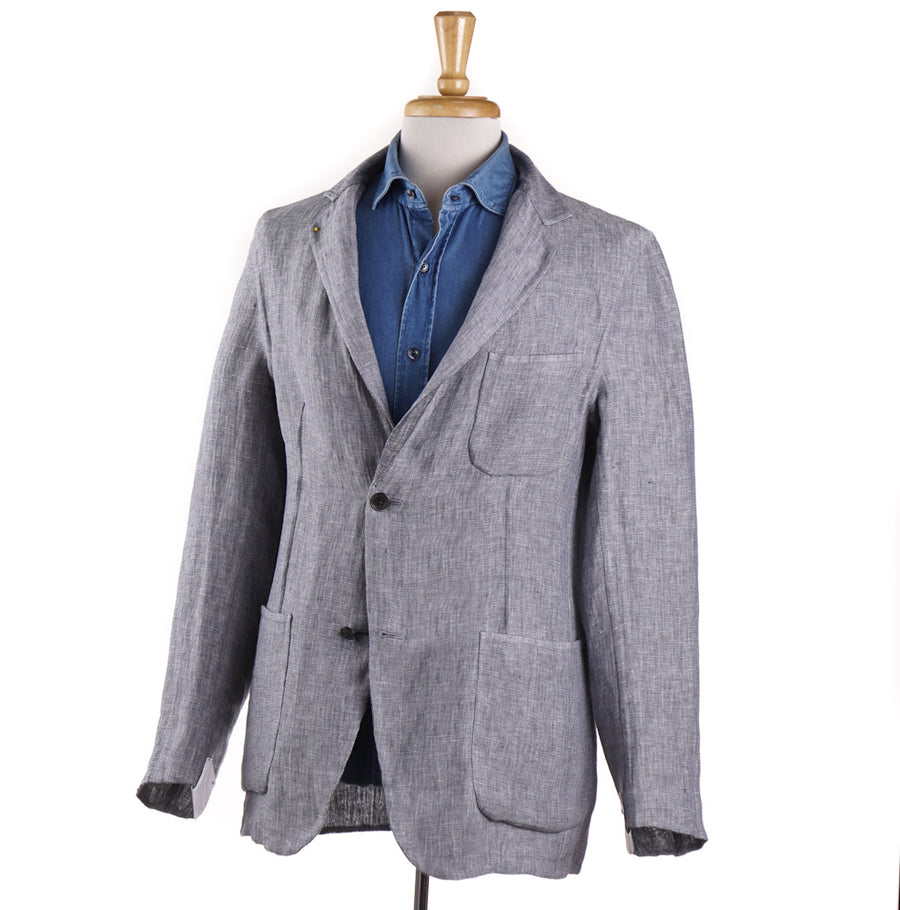 Belvest Reversible Chambray Linen Sport Coat