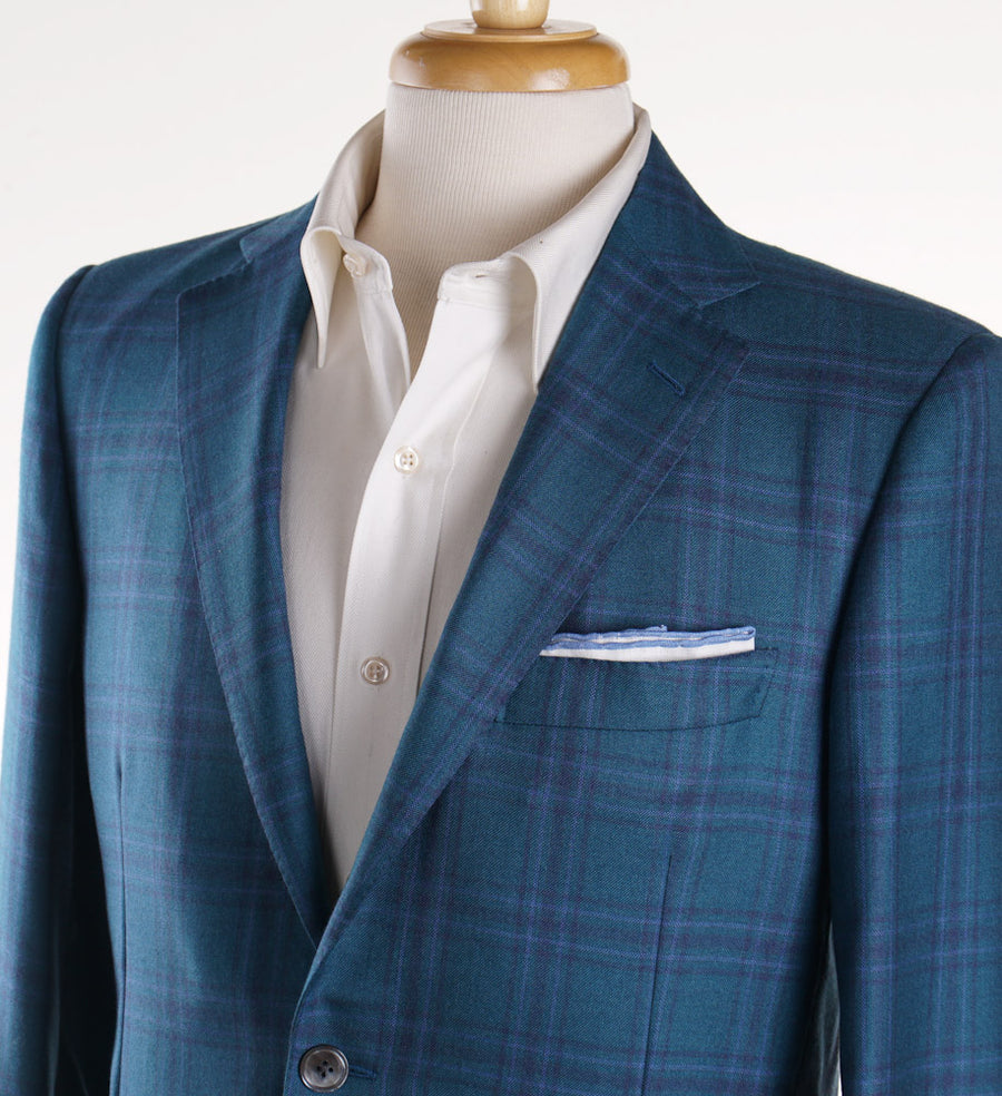 Belvest Windowpane Cashmere-Silk Sport Coat - Top Shelf Apparel