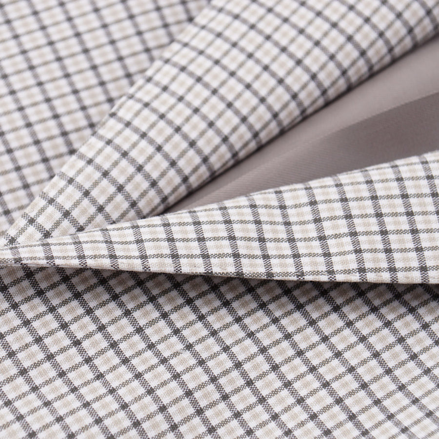 Belvest Beige Check Cotton Suit - Top Shelf Apparel
