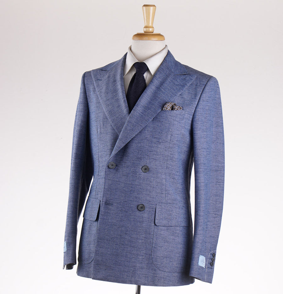 Belvest Slate Blue Melange Wool Suit - Top Shelf Apparel