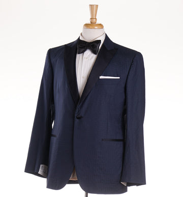 Belvest Navy Blue Silk and Cotton Tuxedo