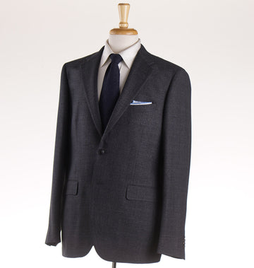 Boglioli Charcoal Gray Woven Wool Suit
