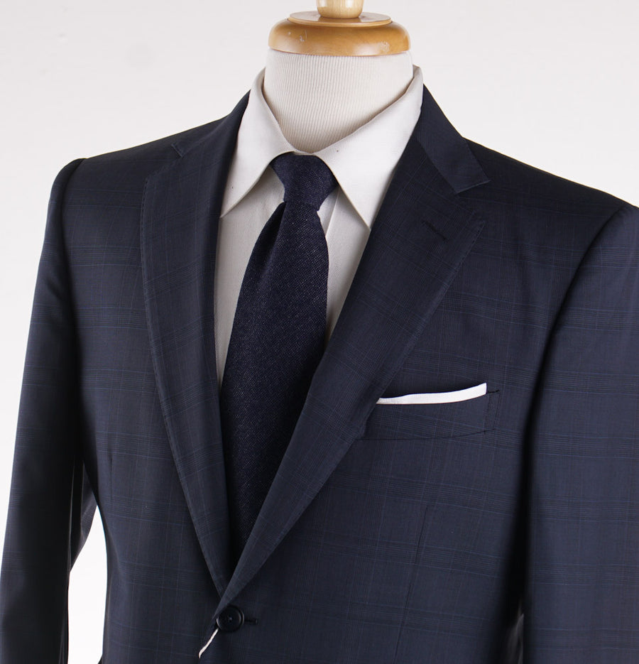 Boglioli Navy Check Lightweight Wool Suit - Top Shelf Apparel