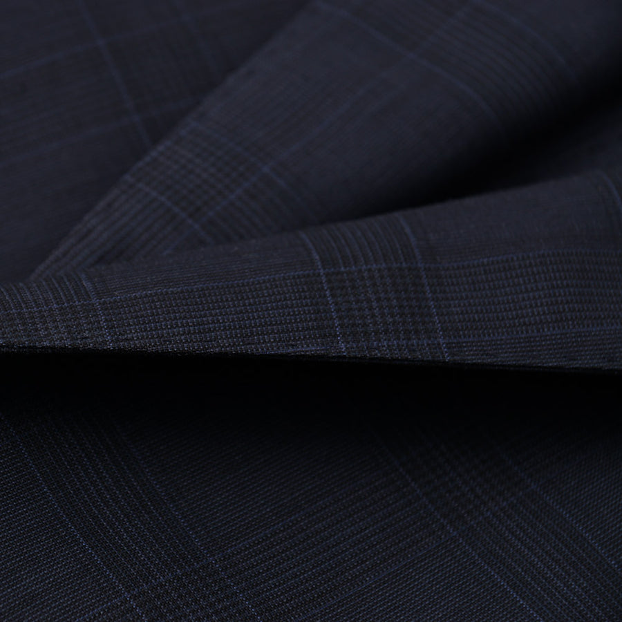 Boglioli Navy Check Lightweight Wool Suit