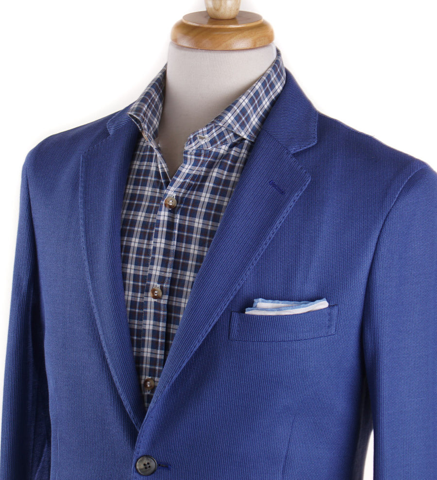 Boglioli Ocean Blue Knit Cotton Sport Coat