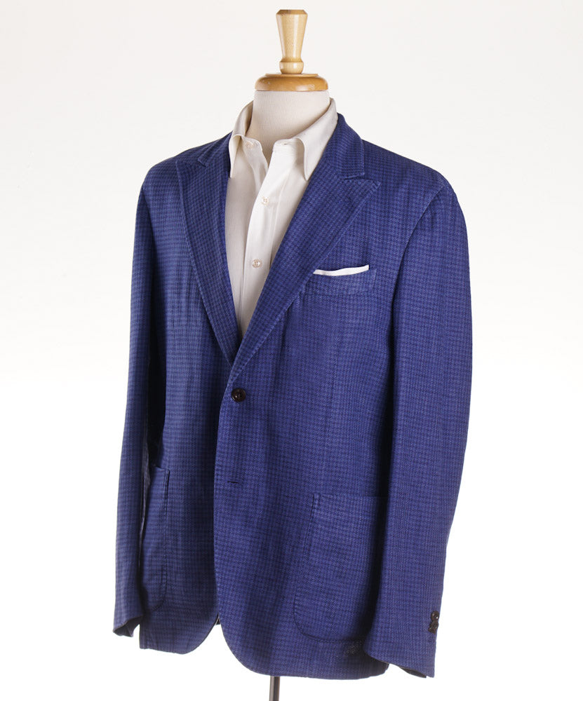 Boglioli Houndstooth Cotton-Linen Sport Coat