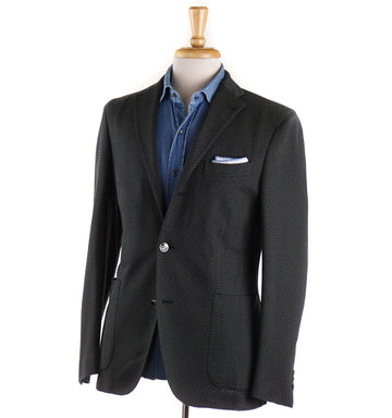 Boglioli Green and Navy Knit Cotton Sport Coat