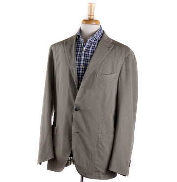 Boglioli Lichen Green Woven Cotton Sport Coat