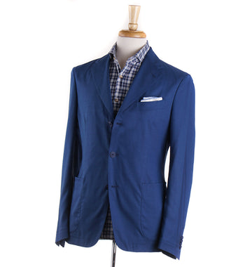 Boglioli Lightweight Wool-Silk Sport Coat in Ocean Blue