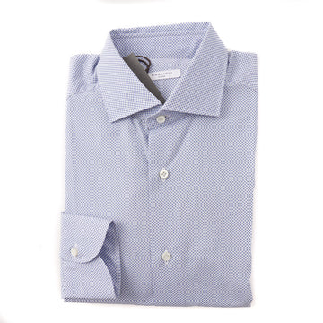 Boglioli Slim-Fit Cotton Shirt in Sky Blue Dot