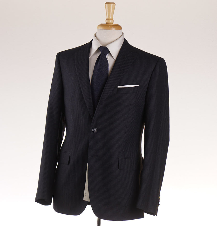 Boglioli Gray Stripe Slim-Fit Wool and Cashmere Suit