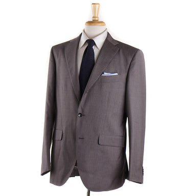 Boglioli Dove Brown Striped Wool Suit