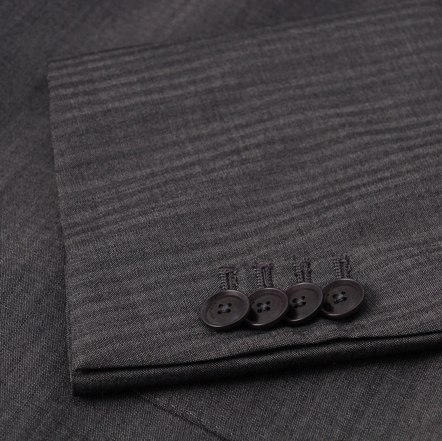 Boglioli Gray Shadow Stripe Wool Suit