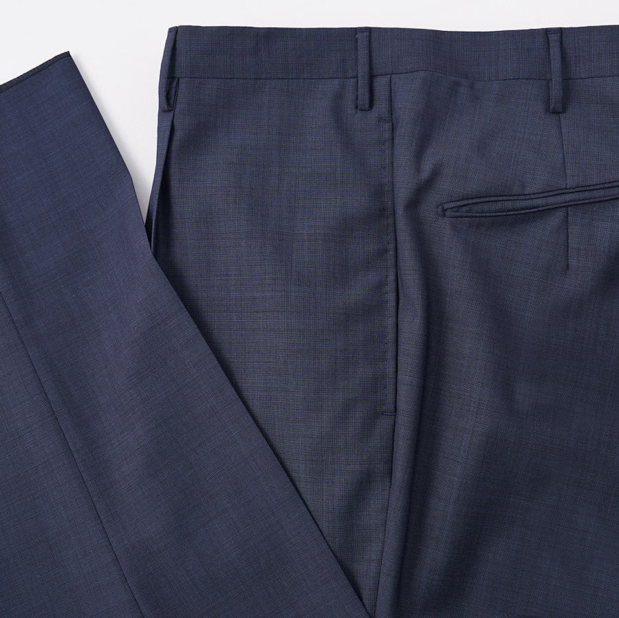 Boglioli Slate Blue Sharkskin Wool Suit - Top Shelf Apparel