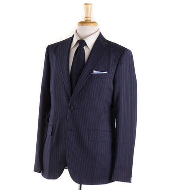 Boglioli Dark Slate Blue Striped Wool Suit