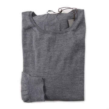 Boglioli Lightweight Merino Wool Sweater in Gray