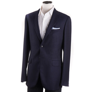 Boglioli Dark Blue Patterned Wool Sport Coat