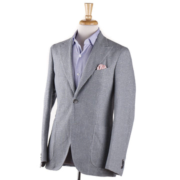Boglioli Silk-Cotton-Linen Sport Coat in Light Gray