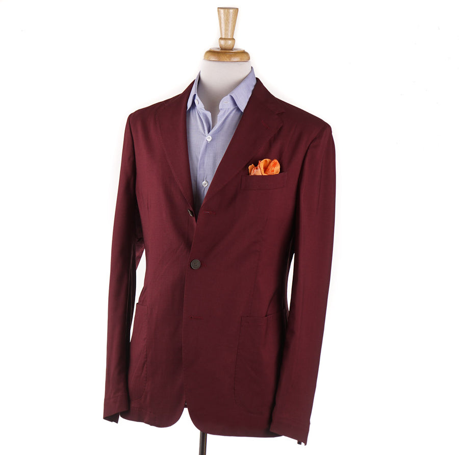 Boglioli Wool and Silk Sport Coat in Burgundy