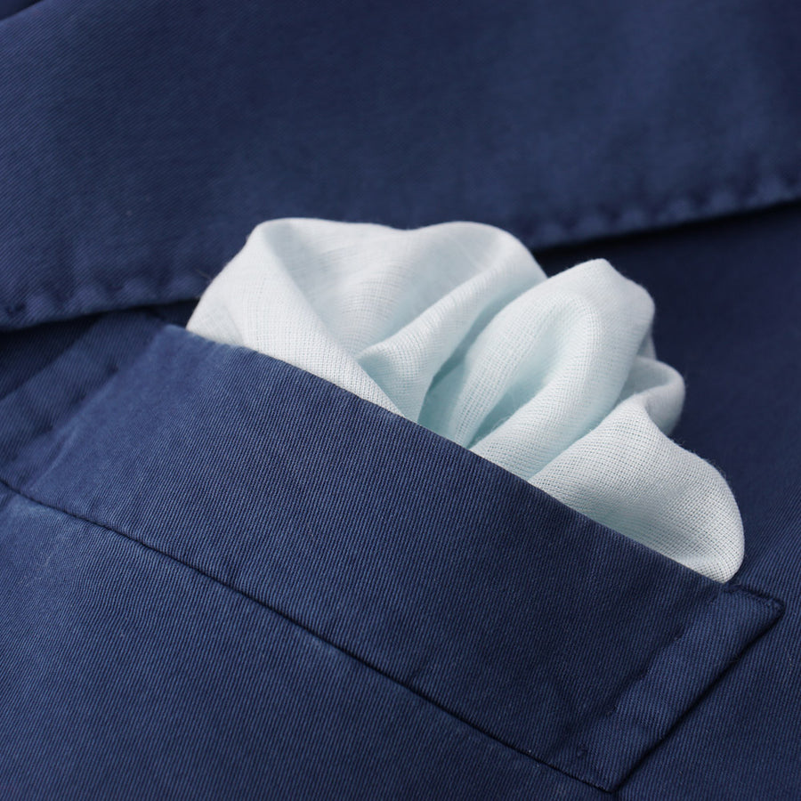 Boglioli Medium Blue Stretch Twill Cotton Suit