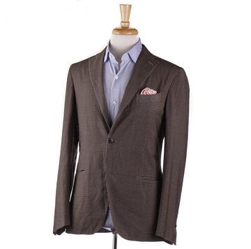 Boglioli Brown Check Lightweight Wool-Silk Suit