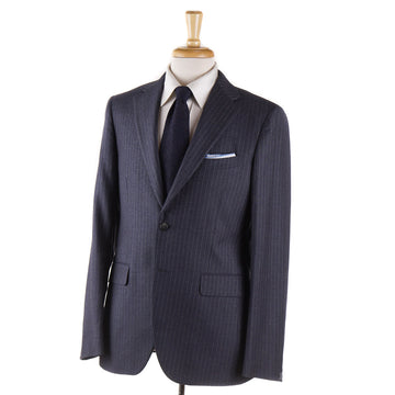 Boglioli Slate Blue-Gray Striped Wool Suit