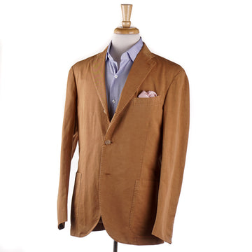 Boglioli Cotton and Linen Suit in Orange-Tan