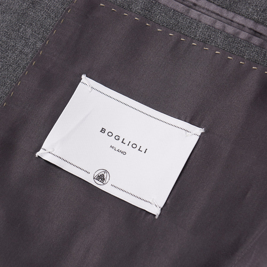 Boglioli Modern-Fit Solid Gray Wool Suit