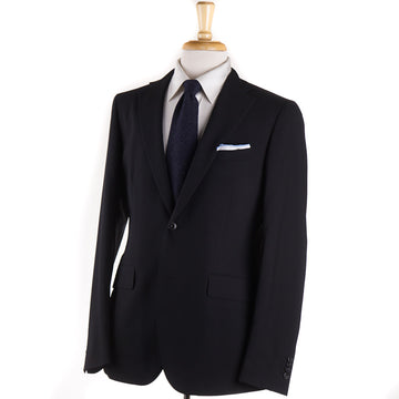 Boglioli Slim-Fit Woven Black Wool Suit