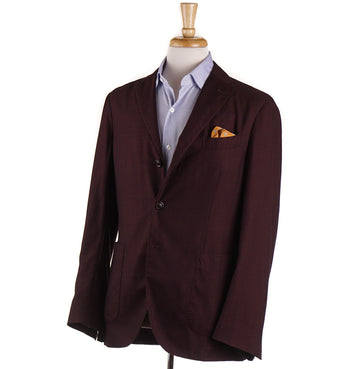 Boglioli Lightweight Cashmere-Silk Sport Coat in Burgundy