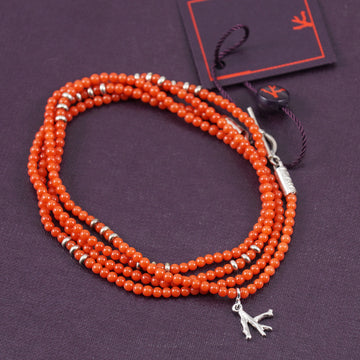 Isaia Saracino Bracelet in Orange Coral - Top Shelf Apparel