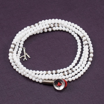 Isaia Saracino Bracelet in White Agate - Top Shelf Apparel