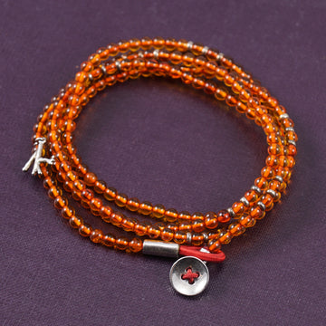 Isaia Saracino Bracelet in Orange Amber - Top Shelf Apparel