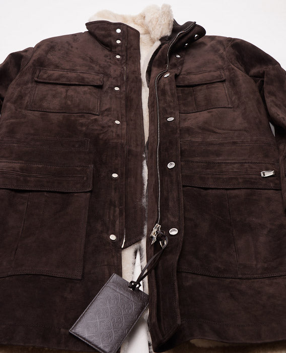 Brioni Shearling-Lined Leather Parka - Top Shelf Apparel