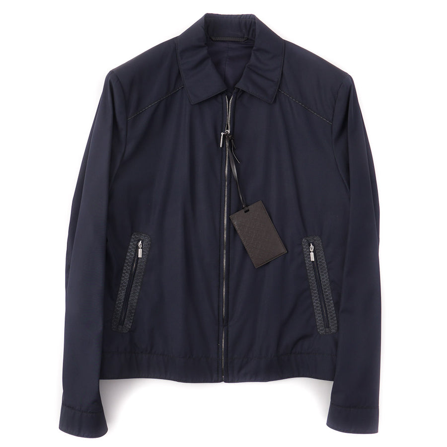 Brioni Silk Bomber Jacket with Python Details