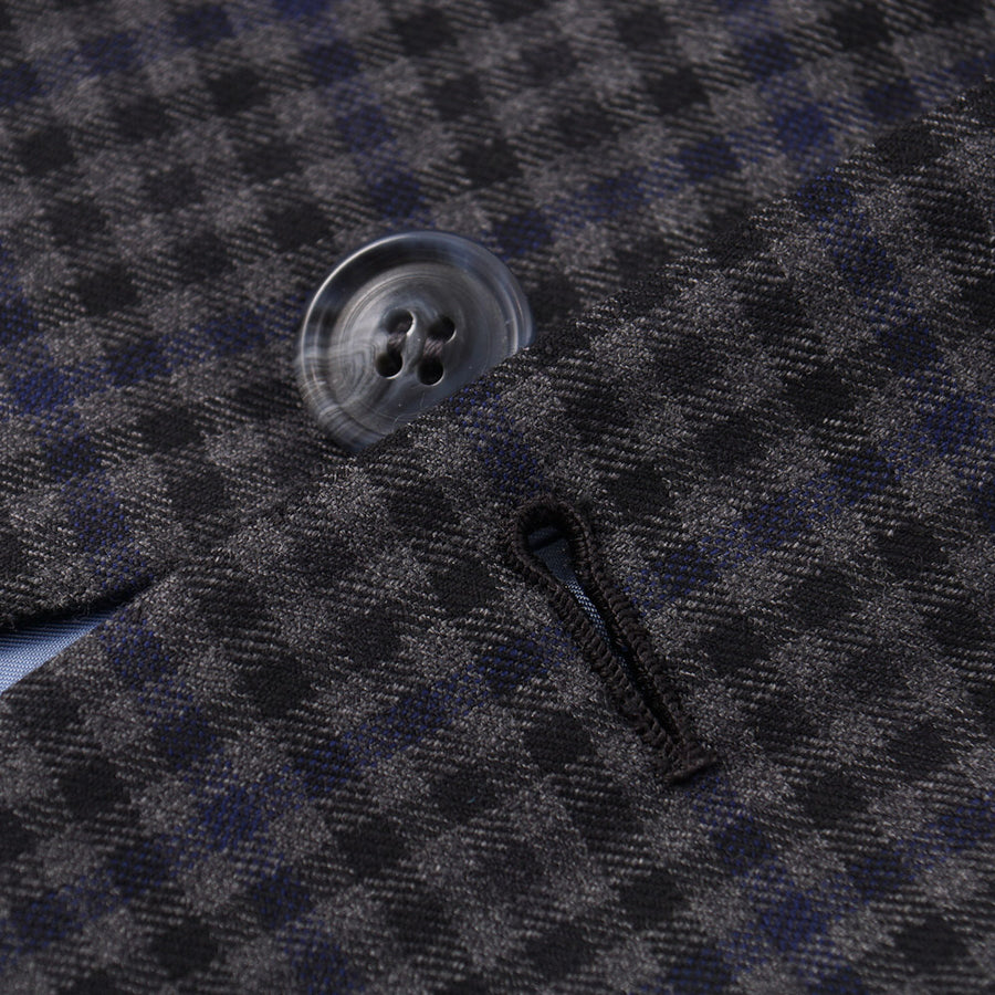 Brioni Gray-Blue Check Wool 'Colosseo' Sport Coat
