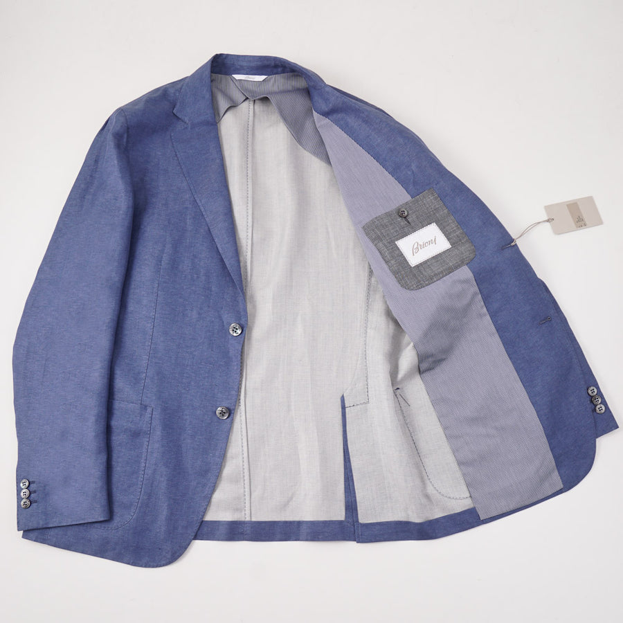 Brioni Sky Blue Linen and Silk Sport Coat - Top Shelf Apparel