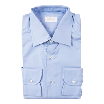 Brioni Classic-Fit Sky Blue Cotton Shirt