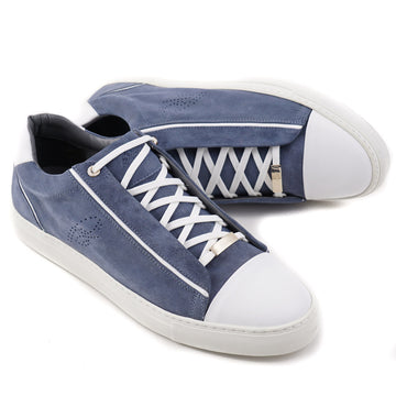 Brioni Slate Blue Suede and Leather Sneakers