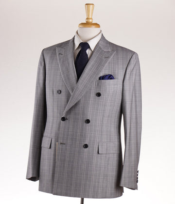 Brioni Gray Check Double-Breasted 'Gaetano' Suit