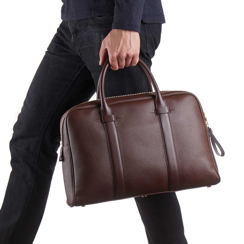18014901a054b6 Tom Ford Buckley Briefcase in Chocolate Brown – Top Shelf Apparel