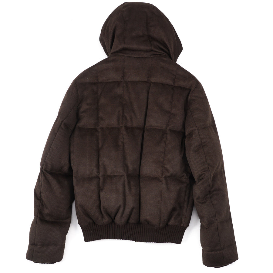 Cesare Attolini Down-Filled Cashmere Puffer Jacket - Top Shelf Apparel