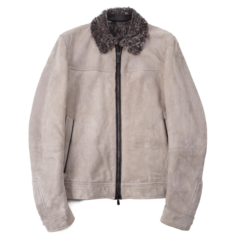 Cesare Attolini Shearling-Lined Suede Bomber - Top Shelf Apparel