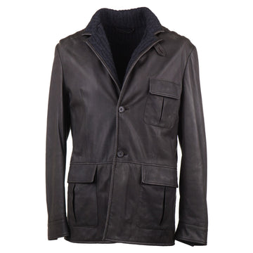 Cesare Attolini Leather Jacket with Cashmere Lining - Top Shelf Apparel
