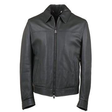 Cesare Attolini Down-Filled Leather Jacket
