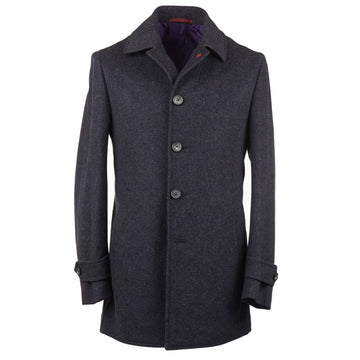 Isaia Wool and Cashmere Car Coat - Top Shelf Apparel