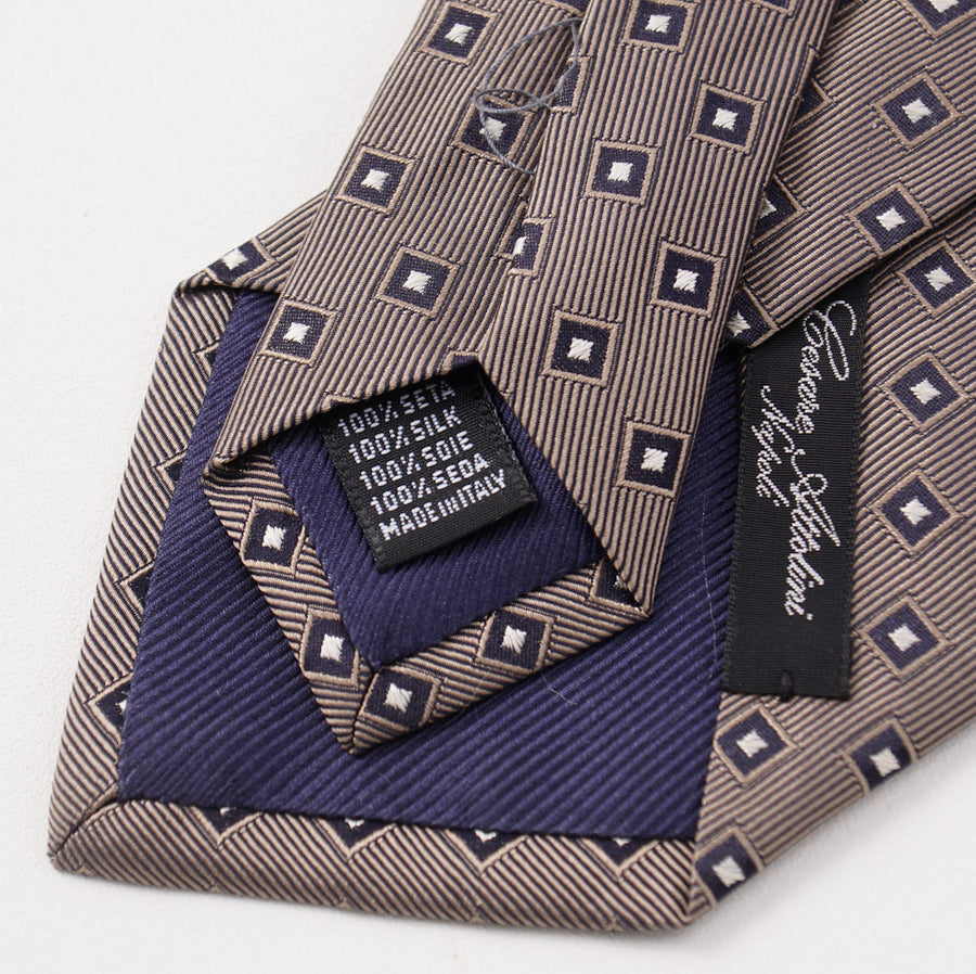 Cesare Attolini Square Jacquard Pattern Silk Tie - Top Shelf Apparel