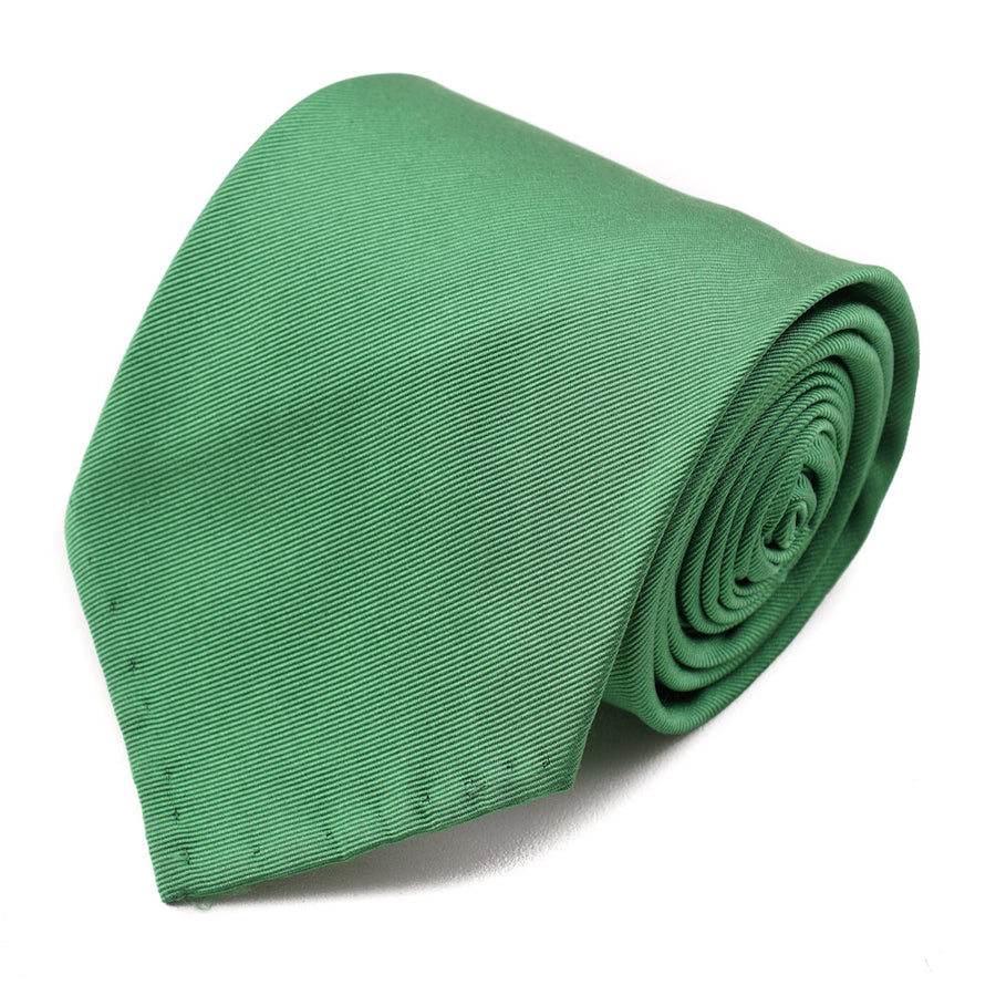 Cesare Attolini Apple Green Twill Silk Tie