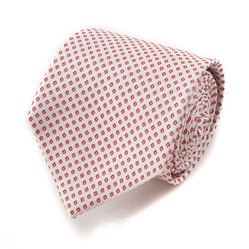 Cesare Attolini Red Diamond Jacquard Silk Tie