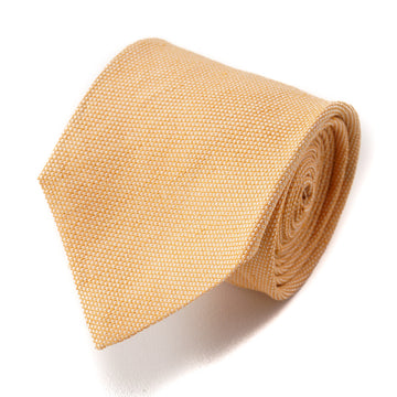 Cesare Attolini Sand Orange Woven Silk Tie